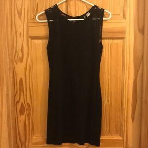 black body con mini dress